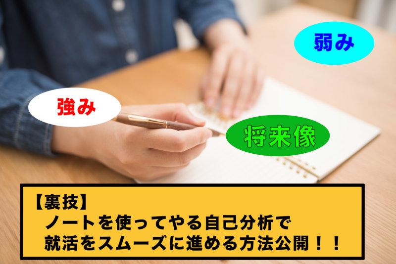 【今日から実践!就活をスムーズに進める自己分析ノートの作り方】